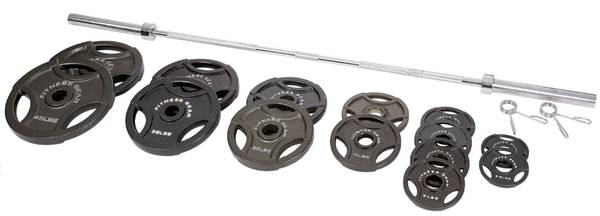 Photo New Fitness Gear Olympic 2quot Grip Weights and Bars (Oxford, OH)