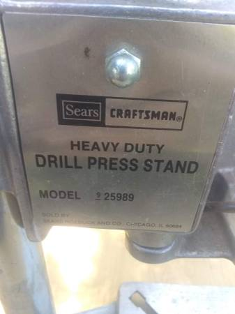 Photo vintage Sears HD Craftsman drill press - $25 (Spiceland)