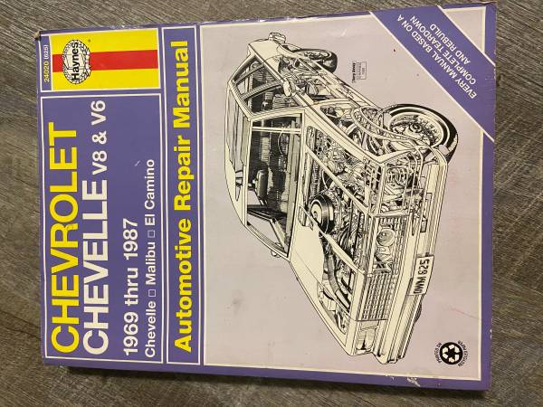 Photo 1969-1987 Chevrolet Chevelle, Malibu, El Camino Haynes Repair Manual - $10 (Rochester, MN)