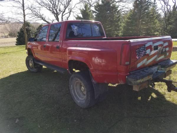 Photo 1999 Lifted 44 crew cab Chevy Dually - $5500 (Spring valley)