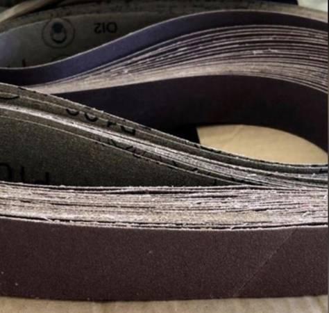Photo 3M 1.5 x 60 in 100 Grit Aluminum Oxide Sander Sanding Belt 10 Pack San - $15 (Rochester)