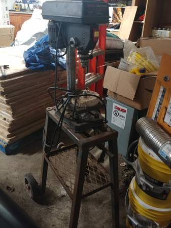 Photo 8 inch craftsman drill press with stand - $75