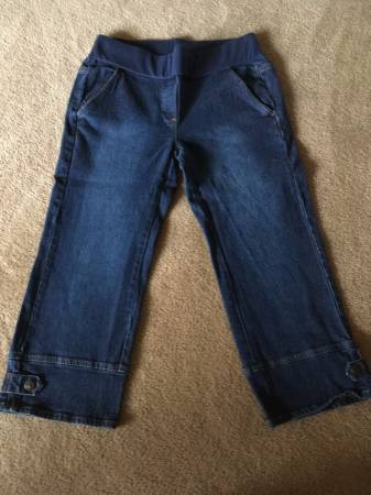 Photo Like-new maternity capri denims size small by Zero 2 Nine - $10 (rochester)