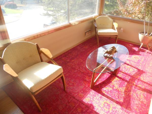 Photo Mid century Adrian Pearsall 2249 lounge chairs pristine condition - $3600 (Rochester)