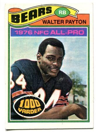 Photo 1977 Walter Payton Topps football card - $275 (Roanoke Va)