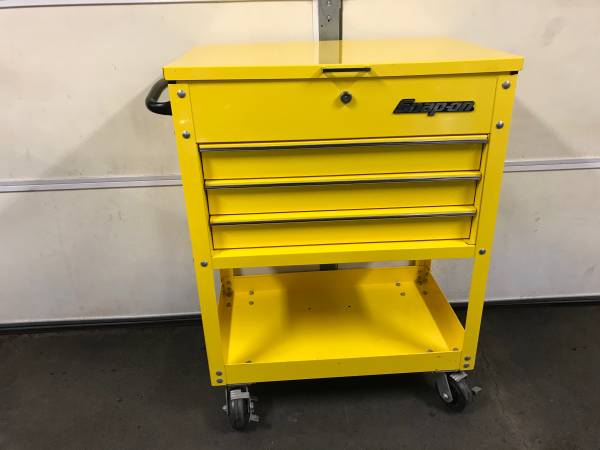 Photo Snap On Roll Cart Yellow 3 Drawer KRSC30PES tool box - $600 (Roanoke)