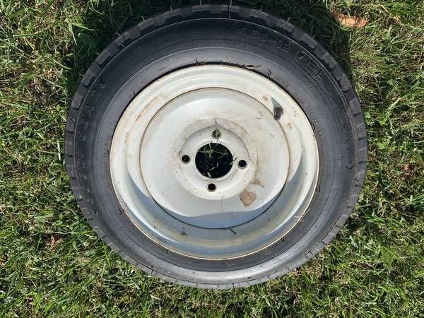 Photo Trailer Rim and Tire 4 lug 4.80 x 12 - $35 (Roanoke)