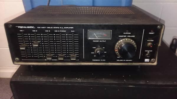 Photo 100 watt realistic 4-channel mic mixer - $60 (Conesus)