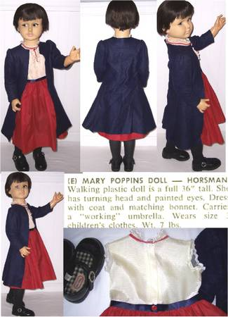 Photo 1966 Disney Mary Poppins 36quot Horsman Play Pal Sized Doll RARE - $400 (Webster)