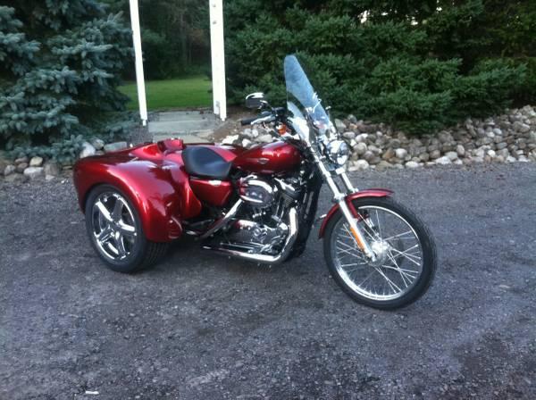 Photo 2008 Harley Davidson 1200 Custom with DFT Trike Kit - $10,000 (Fairport)