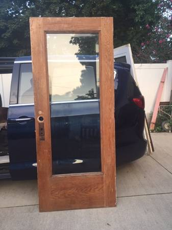 Photo Antique Door (Exterior Door with Beveled Glass) - $120