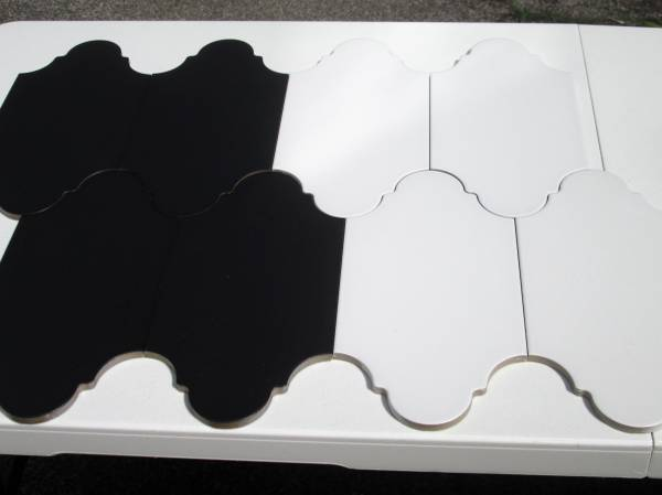 Photo Black and White Porcelain Tile - $30 (Rochester)