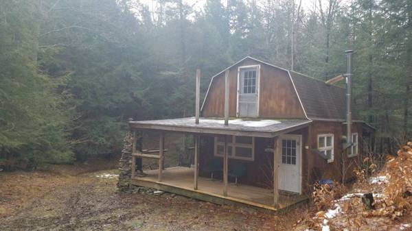 Photo CABIN in Cohocton NY -- 6 acres -- CREEK -- Great HUNTING (Cohocton, NY)