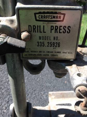 Photo Drill Press - Craftsman - $15 (Irondequoit)