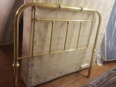 Photo Gold Brass Metal Headboard for Full Double Size Bed. Delivery Poss - $45 (Rochester)