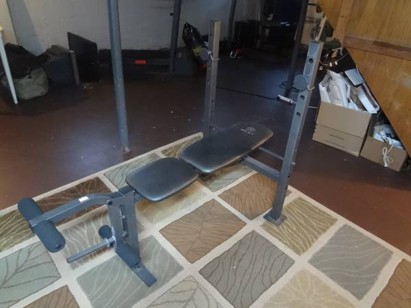 Photo Golds Gym XR 6.1 Multi-Position Weight Bench with Leg Developer - $35