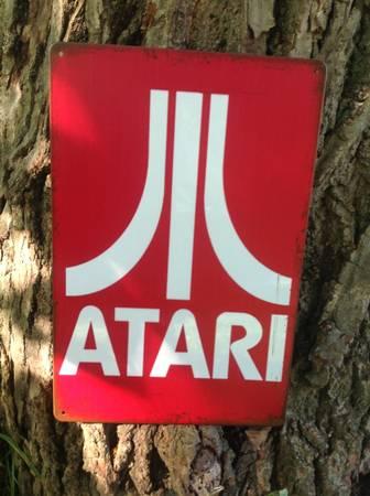 Photo Old School Atari Gaming Computer Metal 12quot x 8quot Tin Sign 2600 5200 800 - $19 (Brighton Rochester)