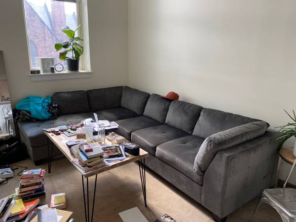 Photo Sectional couch - $900 (Rochester)