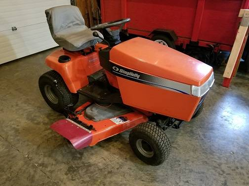 Photo Simplicity Lawn Tractor - $550 (RUSH)
