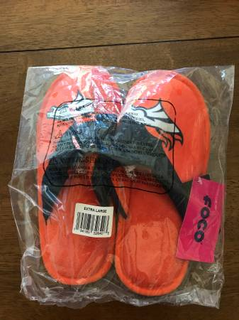 Photo Slippers Denver Broncos - $15 (Fairport)