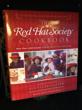 Photo The Red Hat Society Cookbook - $20 (greece)