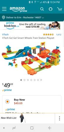 Photo VTech GO GO Smart Wheels Train Set - $30 (Park Ave)
