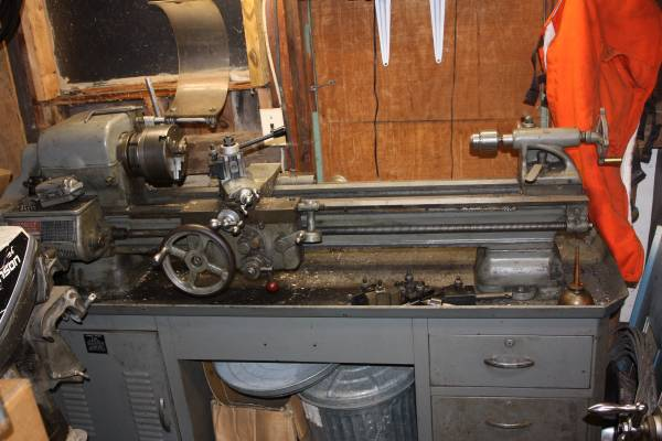Photo Very nice 10 inch Sheldon metal lathe COMPLETE - $1500 (Hamlin)