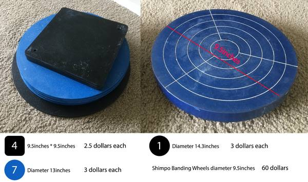 Photo shimpo banding wheel and throwing bats - $60 (rochester)