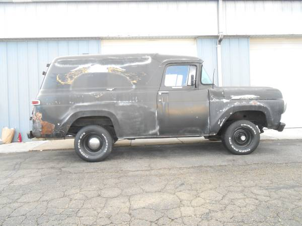 Photo 1958 Ford F-100 Panel Van on Bronco Chassis - $12,500 (Madison)