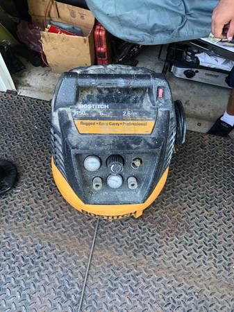 Photo 6 Gallon Bostitch pancake compressor for parts or repair - $45 (Machesney Park)