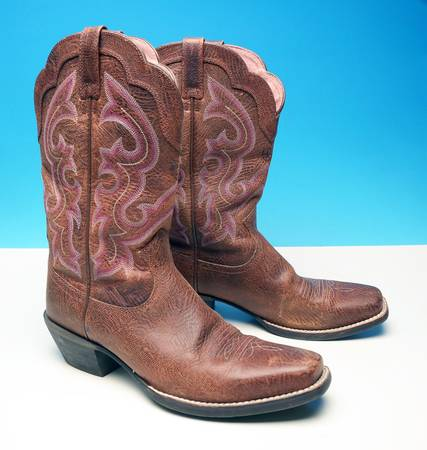 Photo ARIAT BOOTS BROWN LEATHER WESTERN COWBOY BOOTS WOMENS 8.5 B EXCELLENT - $50 (Rockford)