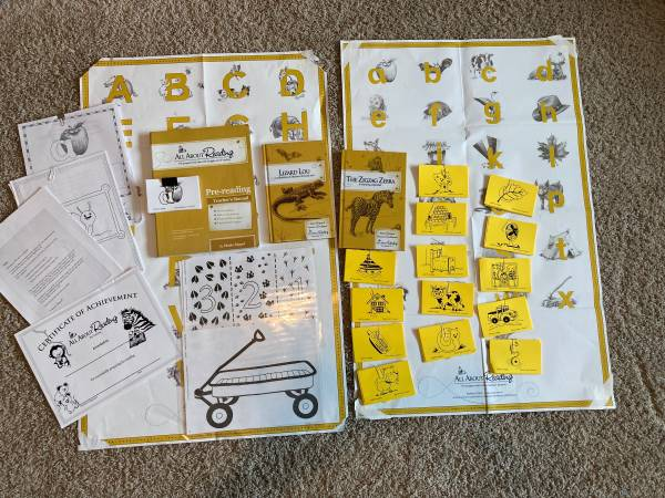 Photo All About Reading Pre-Reading Level lettersphonics preschool curriculum - $30 (Rock City)