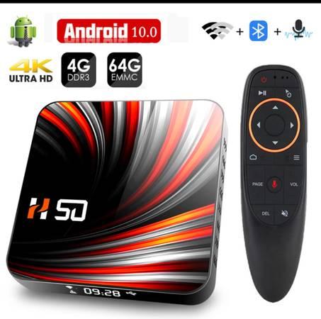 Photo Android 10 Smart TV Box 4GB 32GB 4K 3D Video 2.4G 5GHz Wifi Bluetooth - $120 (Rockford)