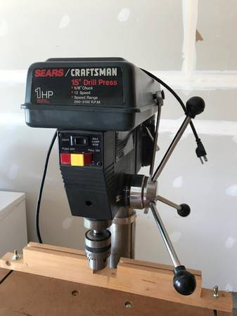 Photo Craftsman 15 inch Drill Press 58 Chuck - $125 (Dekalb)