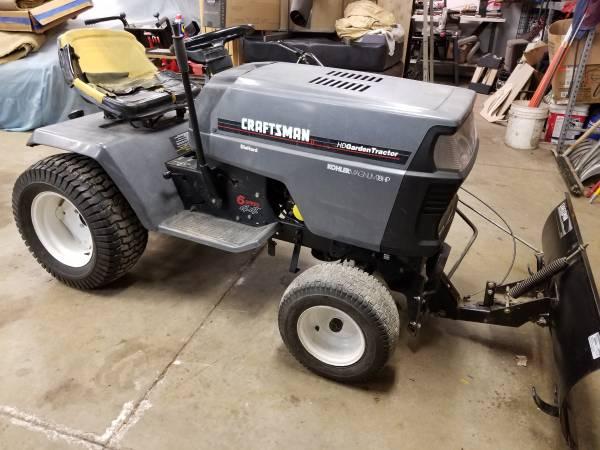 Photo Craftsman garden tractor wplow - $600