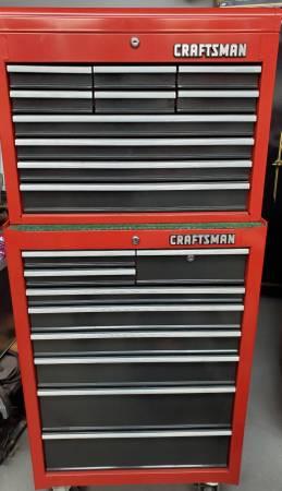 Photo Craftsman tool box set ,10 drawer chest ,9 drawer cabinet - $400 (Rockford)