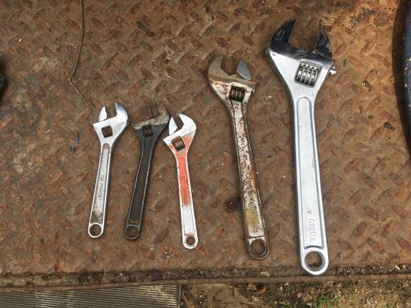 Photo Crescent Wrench 15 Inch 8 Inch 2 Left Total - $2 (Belvidere)
