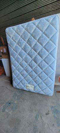Photo Full  Double Size Bed Complete w Box Spring and Mattress  Frame - $175 (Dixon, Illinois)