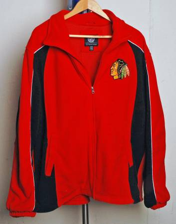 Photo NHL GILL CARL BANKS CHICAGO BLACKHAWKS HOCKEY FLEECE JACKET MENS XL - $25 (Rockford)