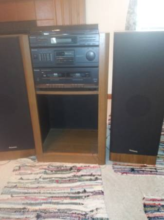 Photo Old school Panasonic stereo with old school 31 albums - $125 (Loves Park)