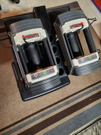 Photo Powerblock Sport 9.0 Dumbbells and Stand - $300 (Rockton)