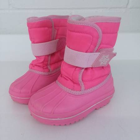 Photo The Childrens Place Girls Winter boots Size 5 RN592884 Hot Pink - $5