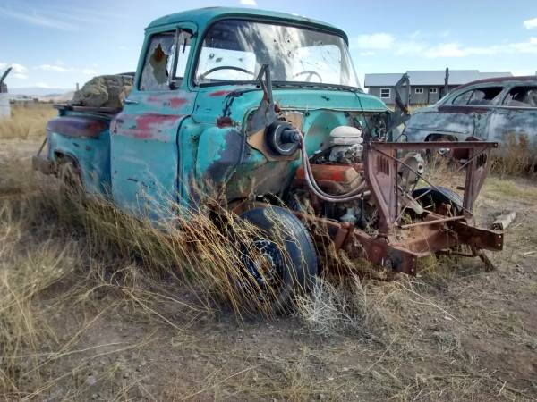 Photo 1956 Chevy Half-Ton Pickup Truck - Great Rat Rod Project - $3900 (Antonito, Colorado)