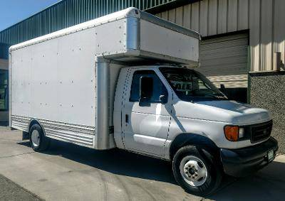 Photo 2007 Ford E-450 Box Van V-10 Automatic Dually - $10,500 (Grand Junction)