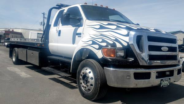 Photo 2008 Ford F-650 Rollback 6.7 Cummins Diesel Allison Auto Tow Truck - $29900 (Grand Junction)