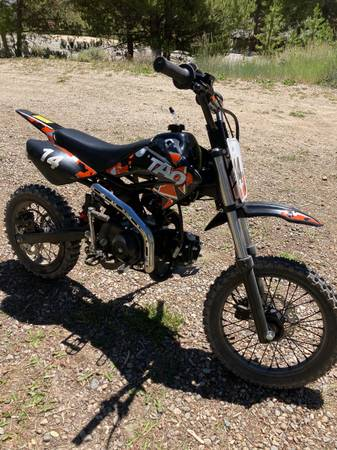 Photo 2020 TaoTaoDB14 110CC Dirt Bike w new carb. 2 weeks old - $1,100