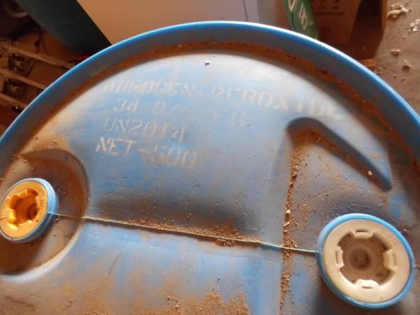 Photo 55 Gallon drum of Hydrogen Peroxide (Alma)