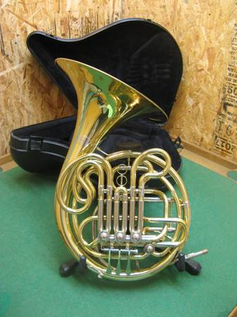 Photo Accent Double French Horn - Detailed and Ready Nice Case  Mouthpiece - $700 (Rifle)