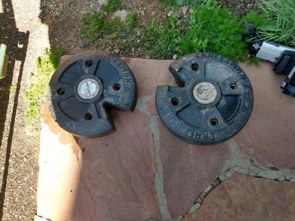 Photo Craftsman tractor weights - $50 (Leadville)