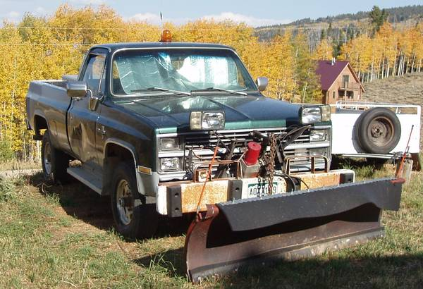 Photo SNOW PLOW BUSINESS FOR SALE - $12,800 (KREMMLING)